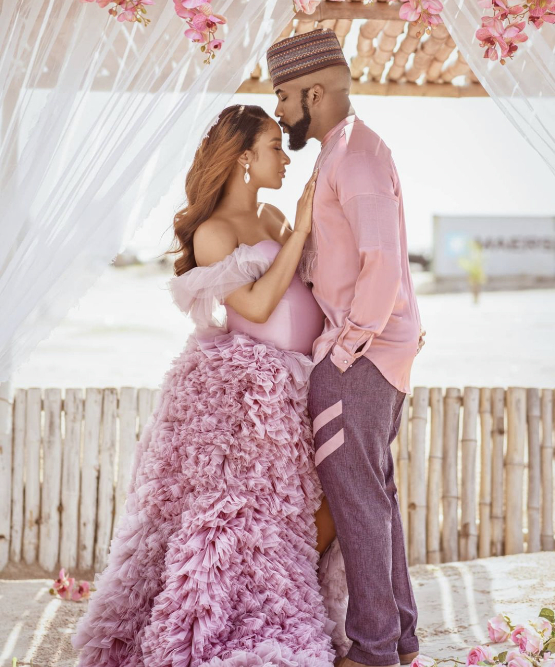 Banky W and his wife