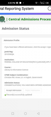 FCE Umunze degree admission list out on JAMB CAPS, 2020/2021 session
